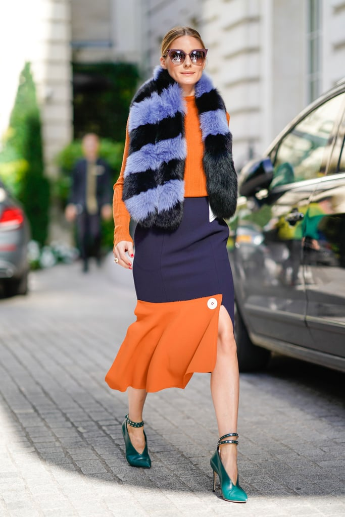 Invest in a Furry Striped Scarf to Turn Heads on a Cooler Day