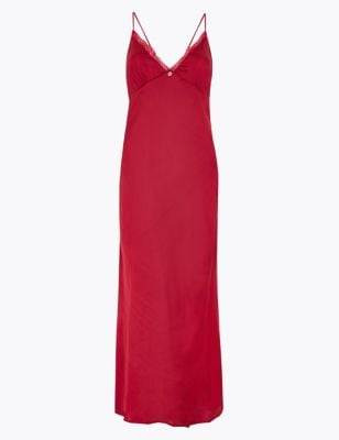 Rosie for Autograph Satin & Lace Long Nightdress