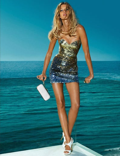 Kate Moss and Gisele Bundchen for Versace S/S 2009 Ad