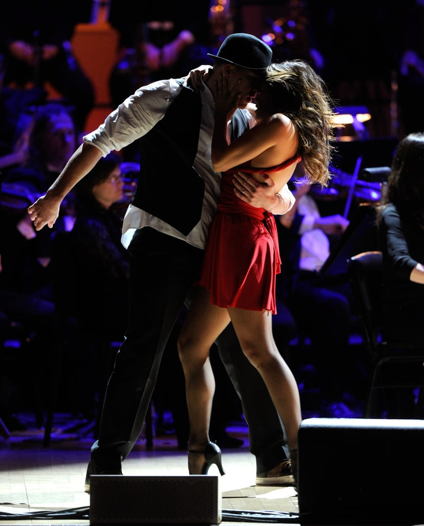 Channing Tatum wore a porkpie hat and Jenna Dewan a red dress for their performance at the Revlon Concert for the Rainforest Fund at Carnegie Hall in NYC.