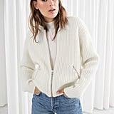 & Other Stories Wool & Mohair Bomber Knit