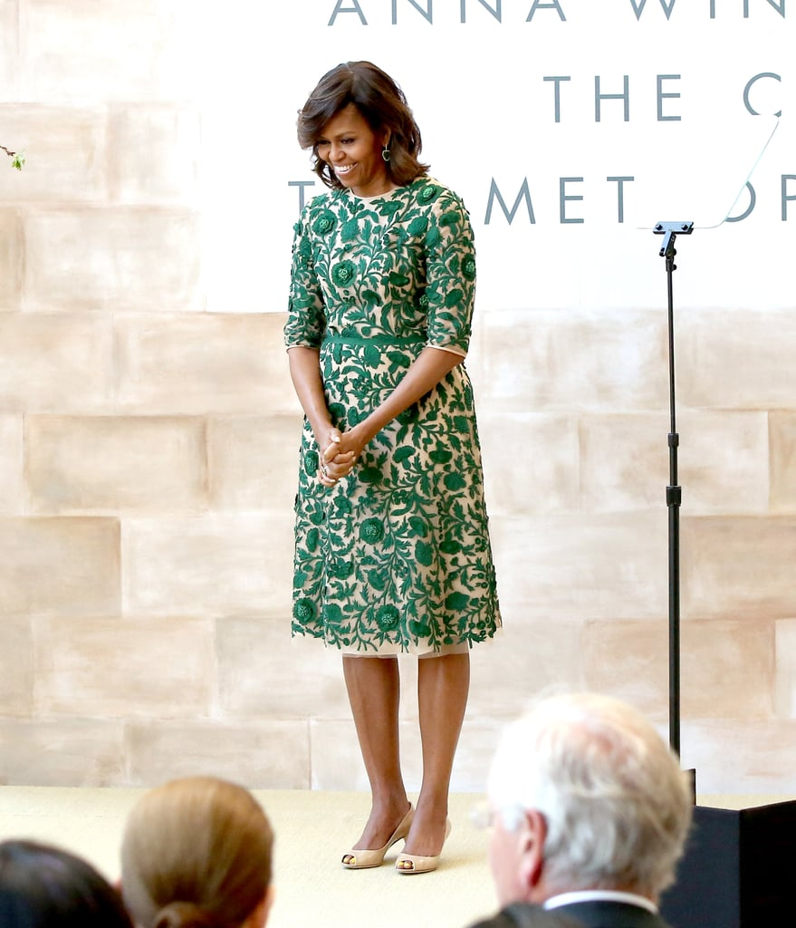 f8f88d242acc The first lady cut the ribbon at the Anna Wintour Costume Center Grand  Opening in a