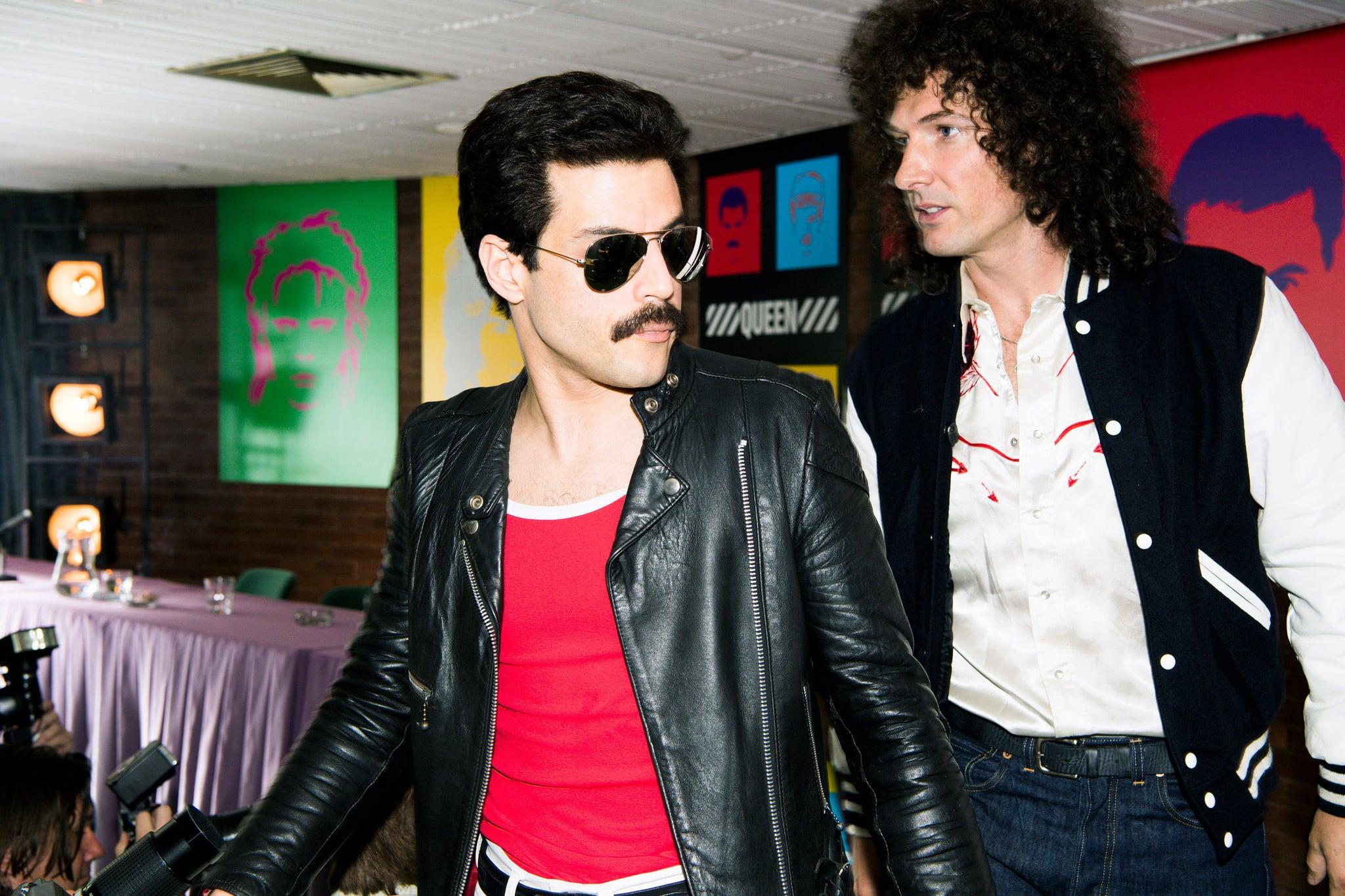 BOHEMIAN RHAPSODY, l-r: Rami Malek as Freddie Mercury, Gwilym Lee as Brian May, 2018. ph: Alex Bailey/TM & copyright  Twentieth Century Fox Film Corp. All rights reserved./courtesy Everett Collection