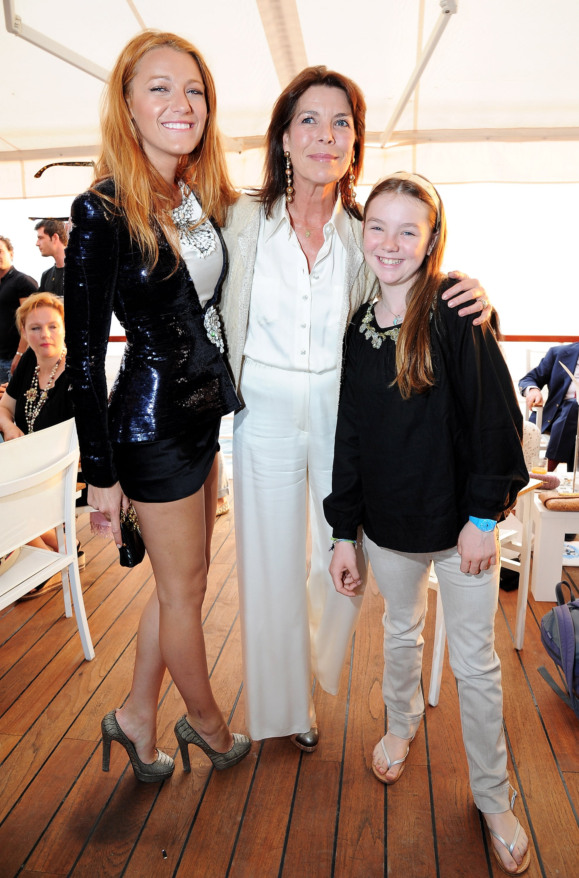Blake Lively, Princess Caroline and Princess Alexandra of Monaco