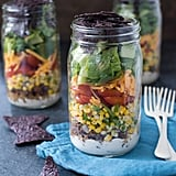 Taco Salad Jars with Green Ancho Chile Yoghurt Dressing