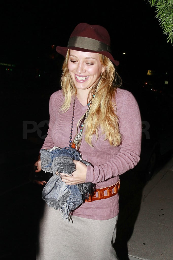 Hilary Duff dined out in LA.