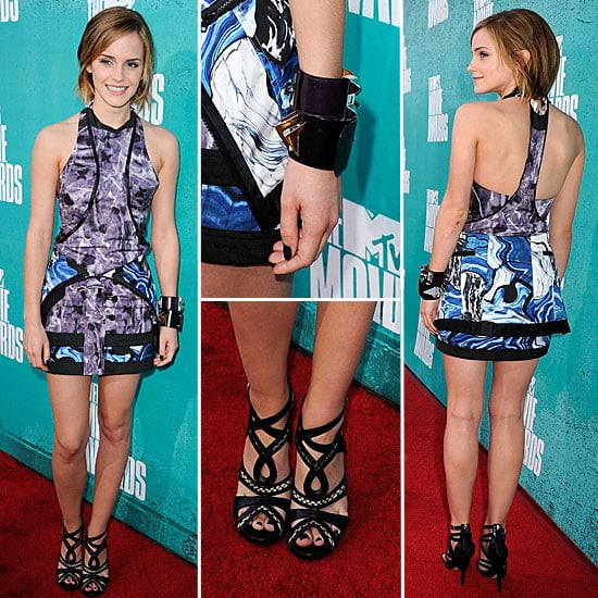 Pictures of Emma Watson in Brood Graphic Print Mini on the red carpet at the 2012 MTV Movie Awards: Rate it or Hate it?