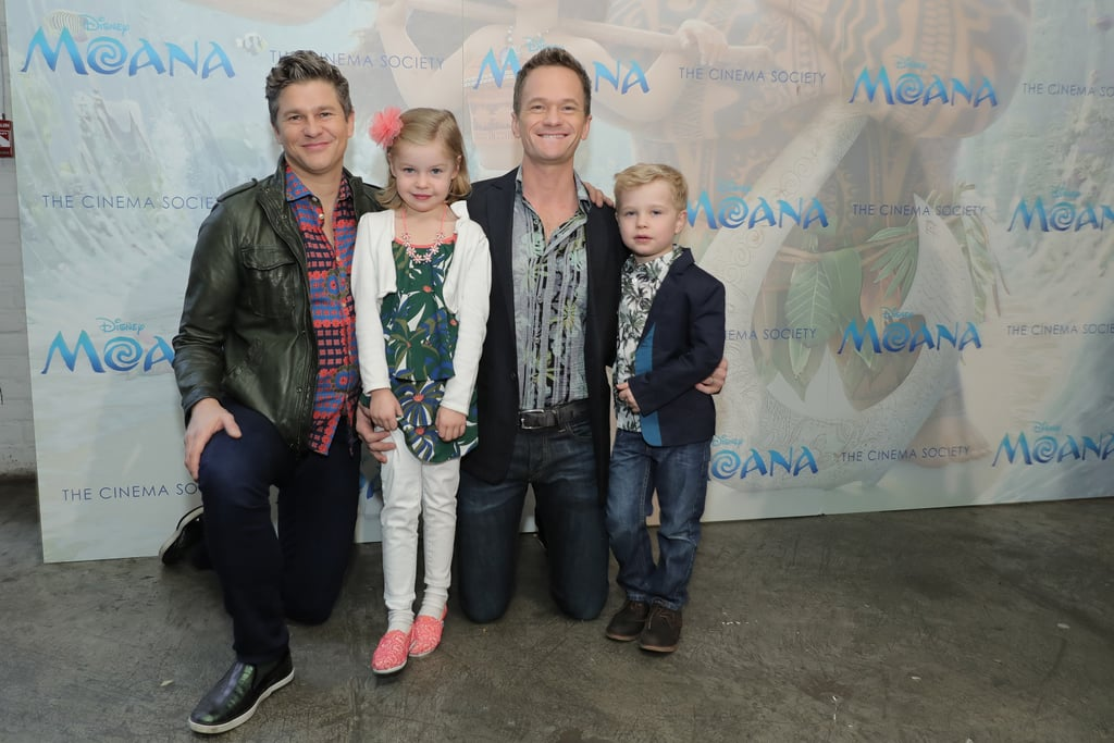 Neil Patrick Harris and His Picture-Perfect Family Catch a Screening of Moana in NYC