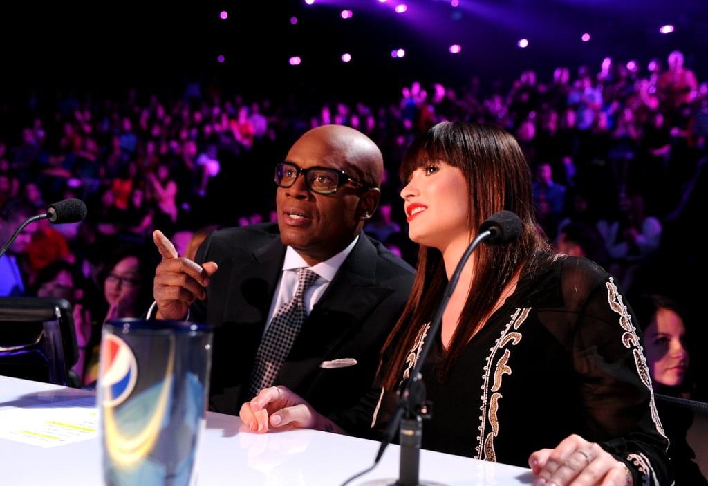 Demi Lovato and L.A. Reid evaluated a performance.