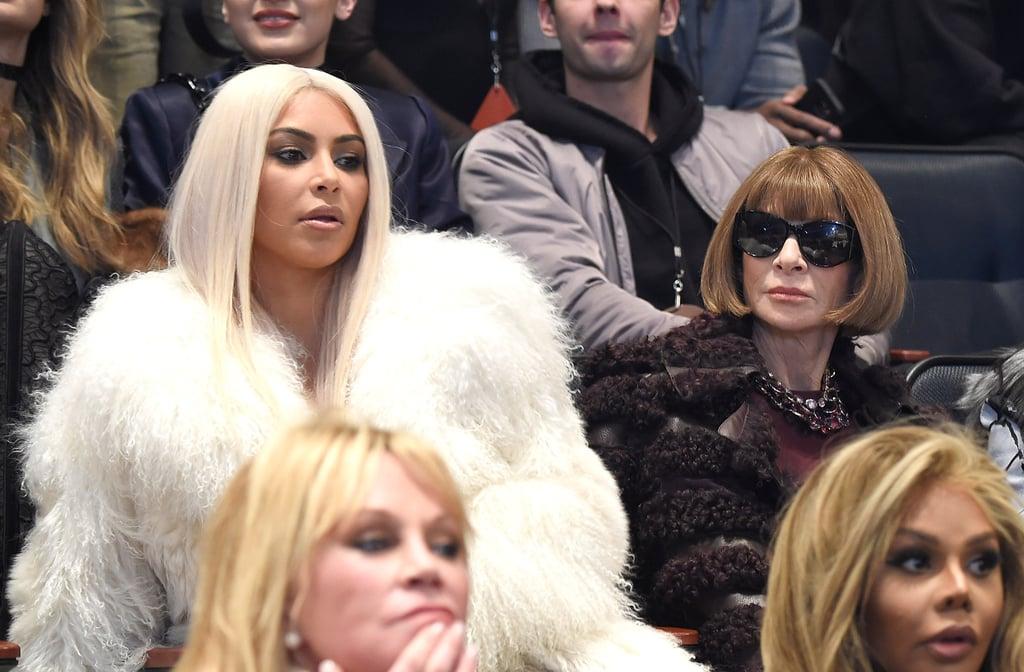 Kim Kardashian With Blonde Hair   Winter 2016