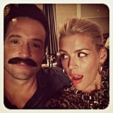 Busy Philipps showed off a perfect winged-eyeliner look (and gave that massive mo' some attention).