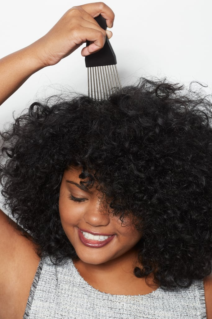 The Trick: Use an Afro Pick Spritzed With Hairspray