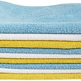 AmazonBasics Blue and Yellow Microfibre Cleaning Cloth