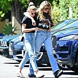 Miley Cyrus and Kaitlynn Carter Are Twinning in Their Jeans