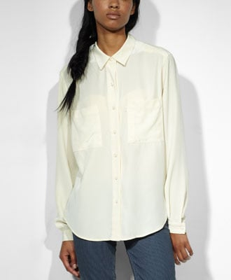 The classic white button-down gets a laid-back, effortlessly chic makeover, thanks to this Levi's Relaxed Silk Shirt ($110).