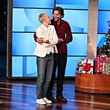 Bradley Cooper tried to teach host Ellen how to do the waltz.