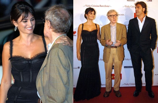Photos of Penelope Cruz, Javier Bardem, Woody Allen at the Premiere of Vicky Cristina Barcelona in San Sebastian