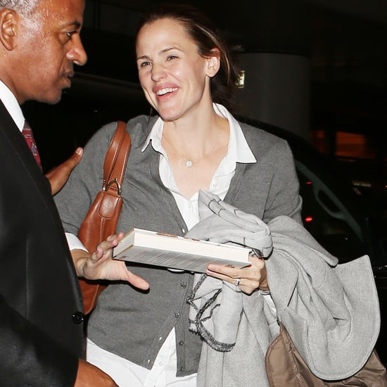 Jennifer Garner With a Copy of The Heart and the Fist