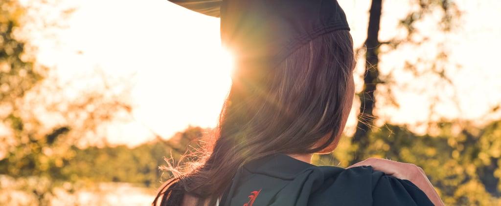 Winged Eyeliner Graduation Cap
