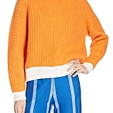 Contrast Hem Merino Wool Sweater