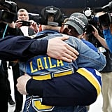 Laila Anderson St. Louis Blues Superfan at Stanley Cup
