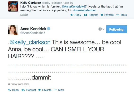 But also over Kelly Clarkson.