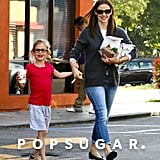 Jennifer Garner wore jeans and flats for her fast-food run.