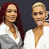 Emaza Dilan and Saiyr Dilan at Instagram's 2020 Grammy Luncheon in LA