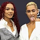 Emaza and Saiyr Dilan at Instagram's 2020 Grammy Luncheon in LA