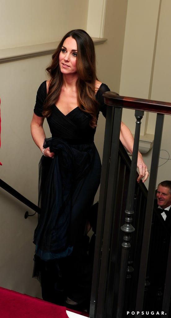 Kate Middleton wore a Jenny Packham gown.