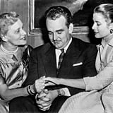 Grace Kelly shows her mother her engagement ring at the Philadelphia country club where the Kellys announced their daughter's engagement.