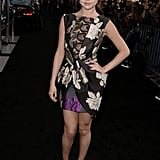 Selena Gomez wore a beautiful printed dress to the event.