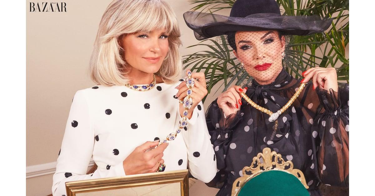 Kris Jenner And Yolanda Hadid's Harper's Bazaar Shoot