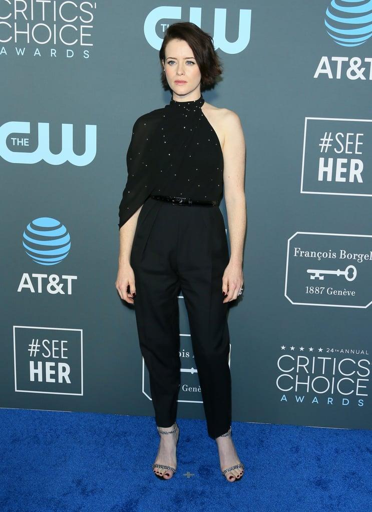 Claire Foy at the 2019 Critics' Choice Awards