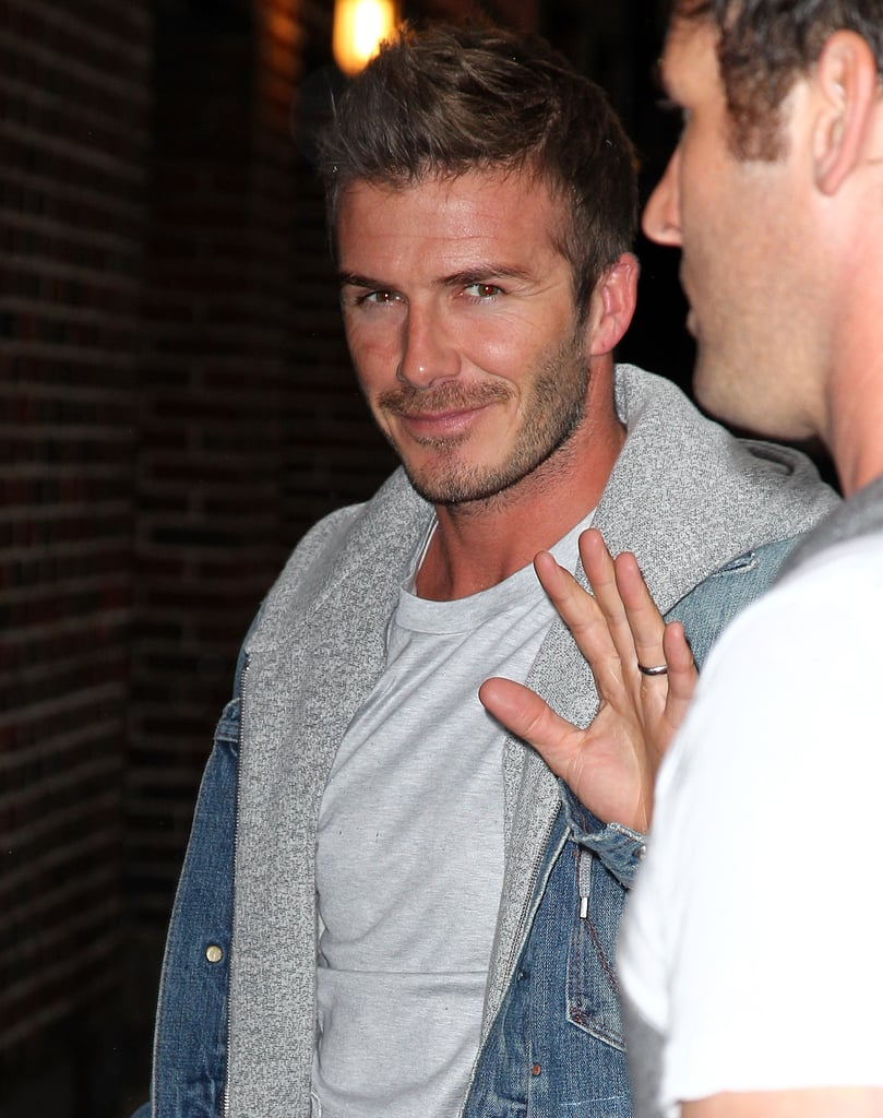 Pictures of David Beckham Leaving The Late Show in NYC 2010-04-27 21:30:06