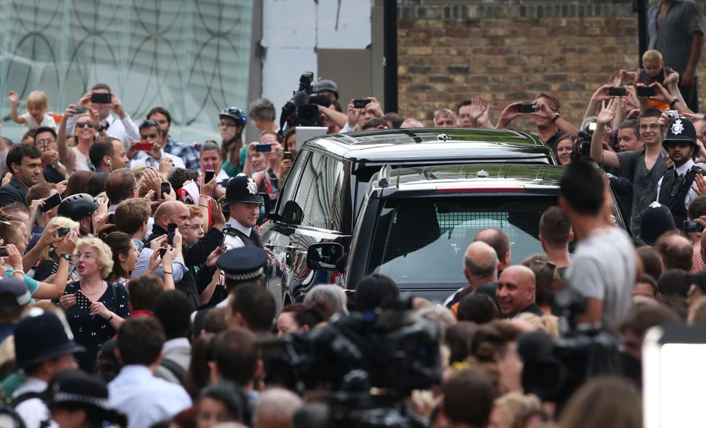 The Duke and Duchess left St. Mary's Hospital in a car with the royal baby.