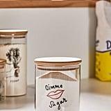 Medium Wooden Lid Glass Storage Jar