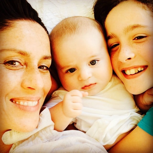 Soleil Moon Frye snuggled with her little ones Lyric and Jagger. Source: Instagram user moonfrye