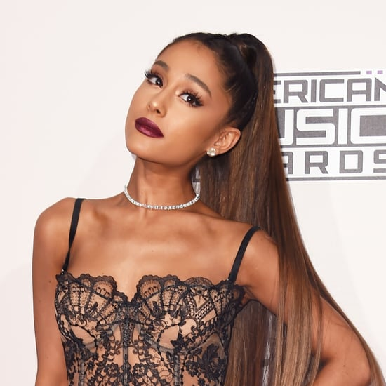 Ariana Grande Purple Wig August 2017