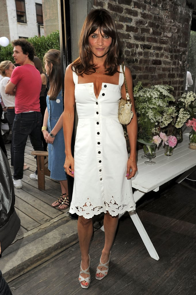 Supermodel Helena Christensen wore a more demure, vintage-inspired LWD to Stella McCartney's Spring 2011 presentation.