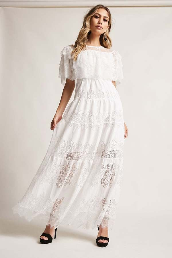Forever 21 12x12 Tiered Lace Maxi Dress