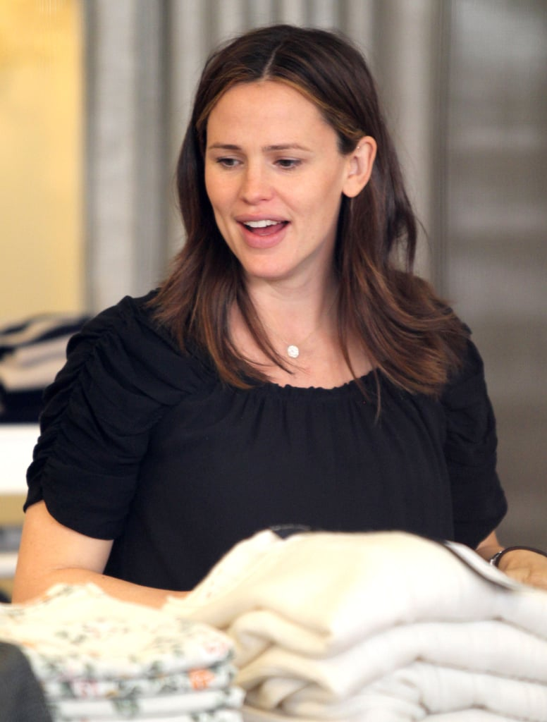 Jennifer Garner shopped the sweaters section of the store.