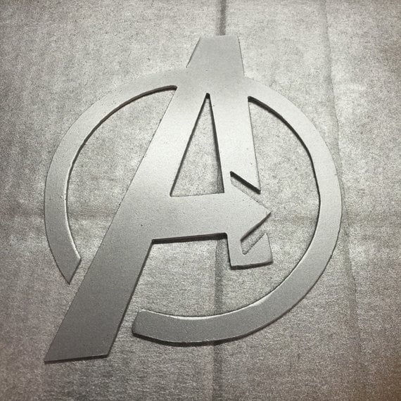 Avengers Logo Metal Wall Decal
