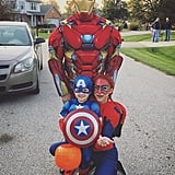 Iron Man, Spider-Man, and Captain America