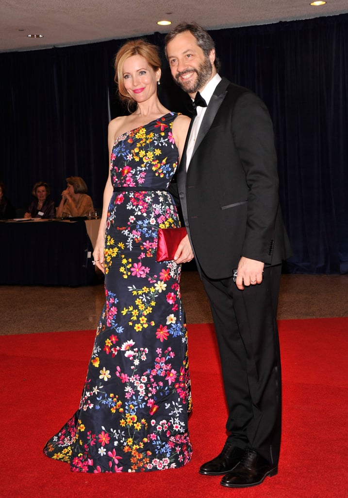 Leslie Mann and Judd Apatow posed together on the red carpet.