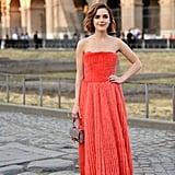Kiernan Shipka Wearing a Fendi Baguette in Rome, 2019