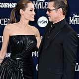 Angelina Jolie and Brad Pitt Looked Smitten at the Maleficent Premiere