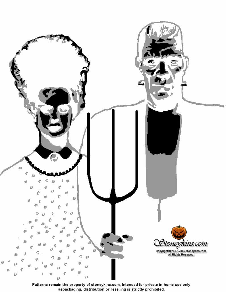 haunted house stencil free halloween printables popsugar smart