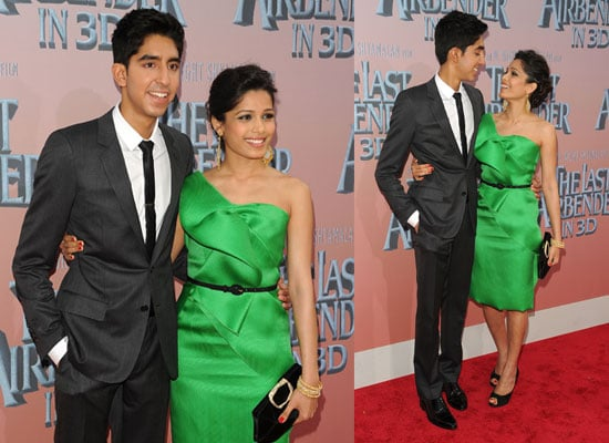 Pictures of Dev Patel and Freida Pinto at Last Airbender Premiere