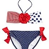Love U Lots Dot & Stripe Two-Piece Swimsuit